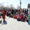 Anganwadi workers and helpers held a protest march and a sit-in at Regal Chowk…