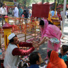Kashmiri Pandits reach Ganderbal for annual Mata Kheer Bhawani fair