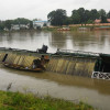 Collapsing house boat on Jehlum waters in Srinagar