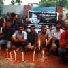 A peaceful candle-light vigil was organised by the journalists outside Kashmir Press Club…