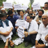 Valley continues protesting against petitions challenging Article 35A