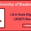Discrepancy in JKSET results