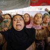 Women wail and protest against the killing of Qamarwari youth
