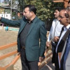 Farooq Shah reviews beautification of Jhelum bund, strengthening FPC embankments