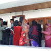 People in large number come up to cast their votes in Uri