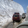 Traffic on Mughal road halted after snowfall