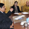 Vyas meets various public delegations in Srinagar
