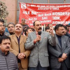 J&K Bank employees, PDP protests