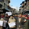 Hurriyat-G, JKLF protest against HR violations
