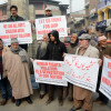 Traders Association Anantnag holds a peaceful protest against alleged human rights abuses in Kashmir…
