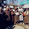 Budgam residents protest against PDD