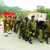 BSF bids adieu to officer killed in Pak firing in Kathua
