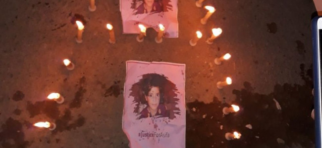 Candle light protests in Shopian villages against Kathua rape and murder