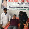 A blood donation camp was organised today