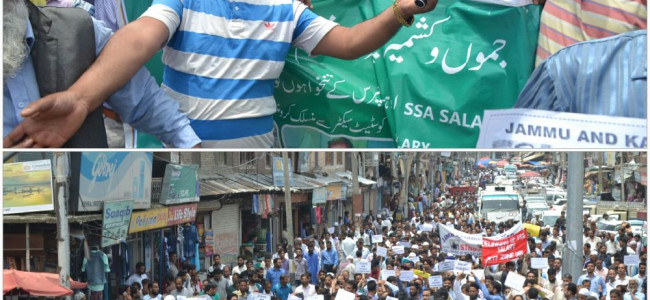 Thousands of SSA, RMSA teachers stage protests all over