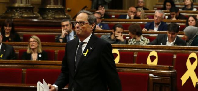 Catalonia's new separatist government sworn in