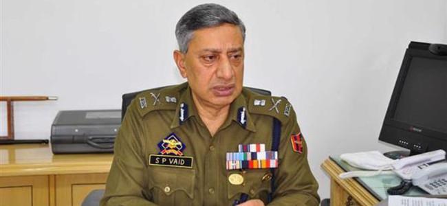 DGP asks families of Kashmiri militants to urge them to shun path