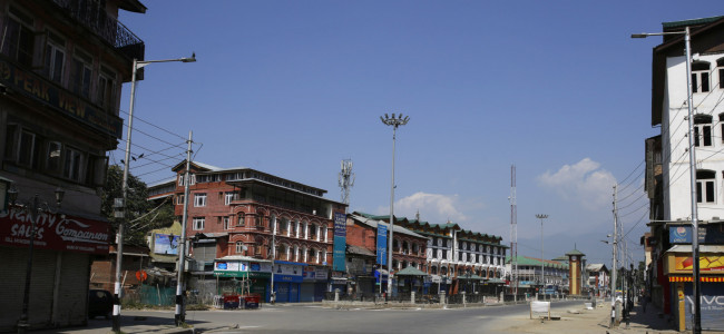 35A: A complete shutdown was observed in Kashmir...