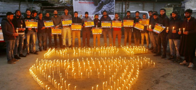 Kashmir Road Safety Foundation (KRSF) today organised a candlelight vigil on...