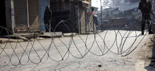 trict curfew was imposed in Pulwama town on Sunday...