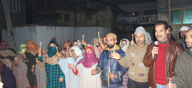 JKLF leaders and activists held candle light protests ...