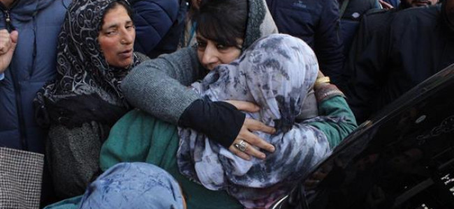 Mehbooba warns against harassment of militants' families