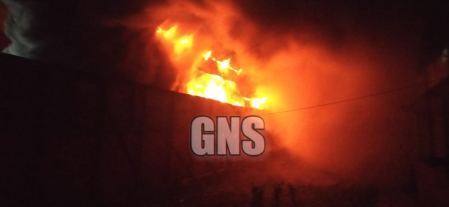 Guardroom outside police officer's home catch fire