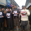 Article 35A row: Civil Society Sopore stages protest