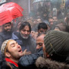 JKLF chief detained during protest march