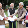 Delegation of Samskrita Bharati meets Governor