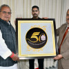 Gov unveils University of Jammu's Logo commemorating its 50th year of establishment