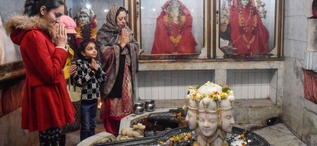Kashmiri Pandits thronged various Temples in Kashmir valley...
