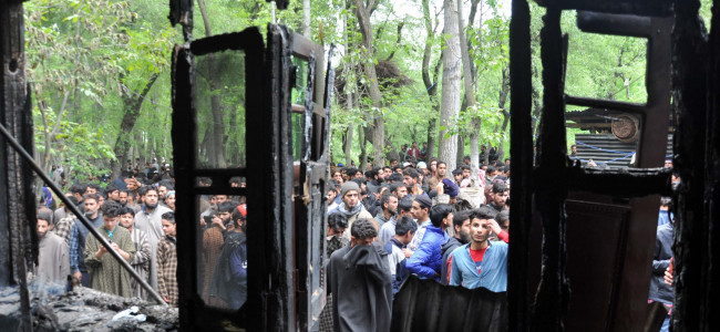 As the encounter in Shopian ended, leaving three militants dead, hundreds rushed...