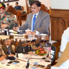 Governor reviews security arrangements at high level meeting