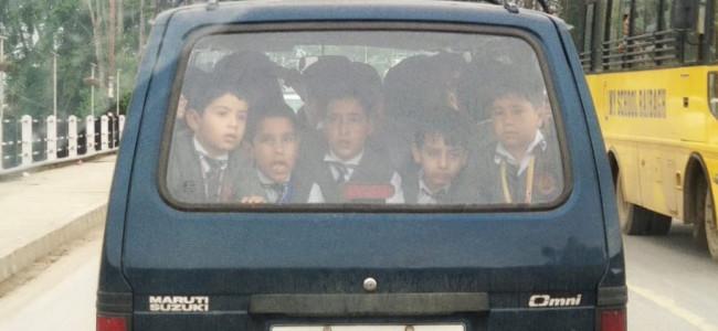 Registration of overloaded school van suspended