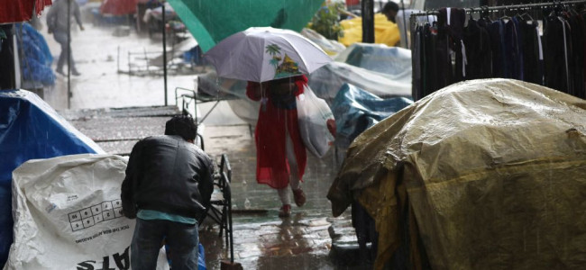 A heavy dose of rains and hails lashed parts of Kashmir...