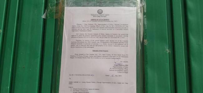NIA attaches house of Asiya Andrabi in Srinagar