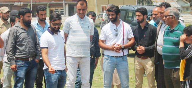 JKCA CEO, SC appointed committee of administrators visit Madr-A-Meharban stadium in Ganderbal