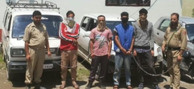 Police busts gang of burglars in Ganderbal