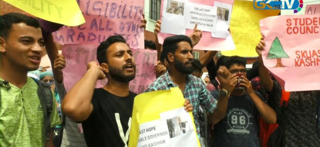 Horticulture Graduates stage protest, demand job policy