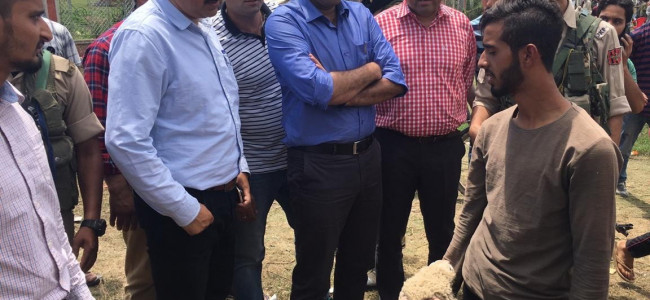 Eid al-adha: DC Srinagar takes stock of facilities being set up in Downtown