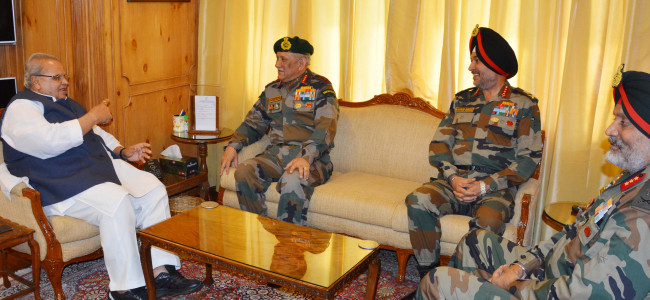 Army chief reviews security situation, meets Guv Malik
