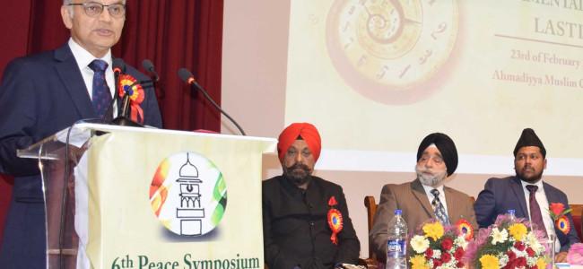 Education; most potent means to achieve peace: Advisor Sharma