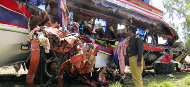 Bus, train collision kills 30 in Pak: report