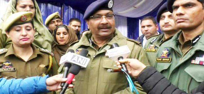 Substantial drop in number and activities of militants: DGP