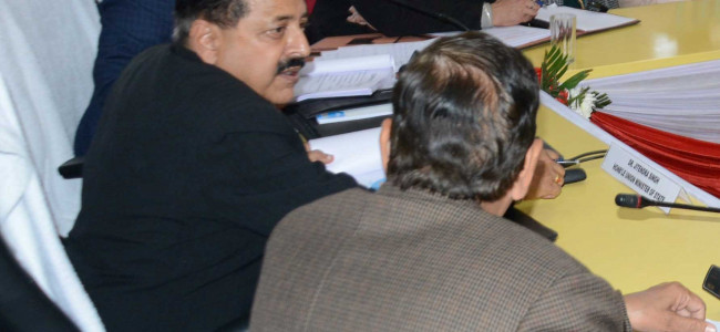 Dr Jitendra Singh reviews progress on all centrally sponsored schemes in Udhampur district