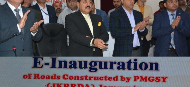 Union MoS Jitendra Singh e-inaugurates PMGSY roads