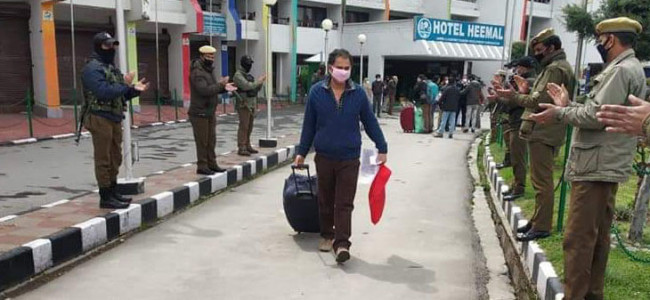 78 people with travel history to Leh complete quarantine in Kashmir