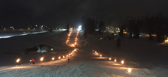 Gulmarg glitters on Friday evening as the resort gears up for Khelo India....