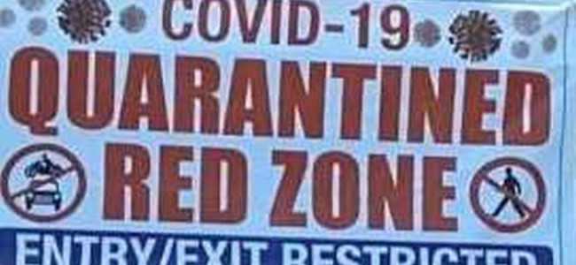 Several areas declared asCOVID-19 red zones in Kashmir